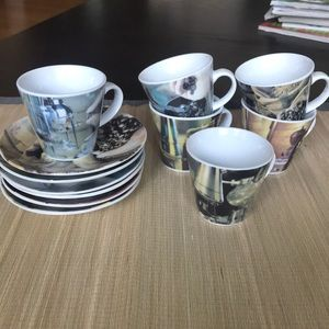 Kitchen - Espresso cups and saucers - set of 6